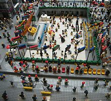 Lego Rockefeller Center Skating Rink,  Rockefeller Center Lego Store, New York City by lenspiro