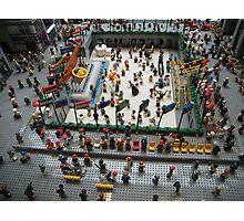 Lego Rockefeller Center Skating Rink,  Rockefeller Center Lego Store, New York City Photographic Print
