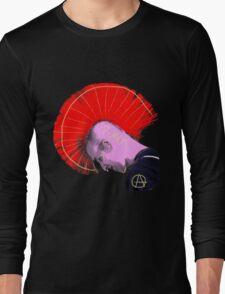 Red Mohawk Punk Long Sleeve T-Shirt