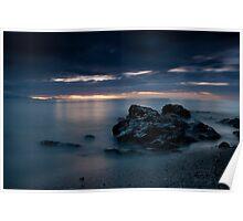 Sunrise Over The Rocks Poster