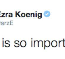 Ezra Koenig tweets about the importance of heart Sticker