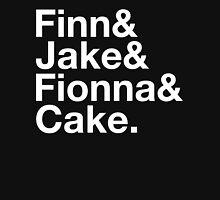 Finn & Jake & Fionna & Cake (white type) Unisex T-Shirt