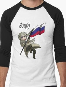 Falling Russia Men's Baseball ¾ T-Shirt