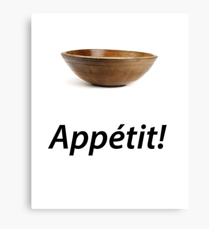 Bowl Appétit! Canvas Print