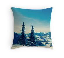 There is always snow on a mountain  Throw Pillow