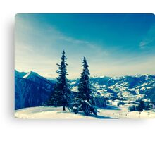 There is always snow on a mountain  Canvas Print