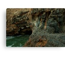 Volcano crater and black lava field on at Palos Verdes, CA Canvas Print