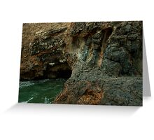 Volcano crater and black lava field on at Palos Verdes, CA Greeting Card