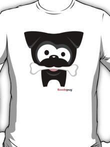 Black Pug Bone! White Tees and Stickers T-Shirt