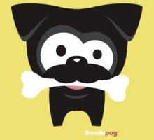 Black Pug Bone! Wear Kids Tee
