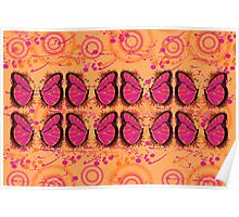 Pink and Tangerine  Psychedelic  Spring  Poster