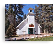Chapel On The Mountain Canvas Print