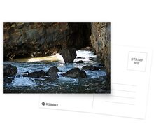 Mountains and Volcano crater at Secret Cove of Palos Verdes, CA Postcards