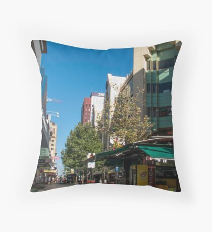 Rundle Mall - Looking West  Throw Pillow