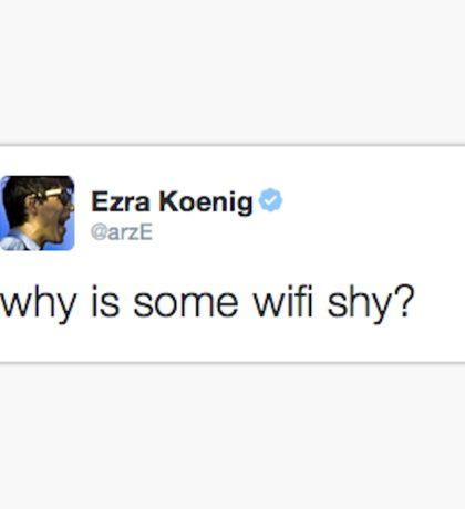 Ezra Koenig tweets about introverted internet Sticker