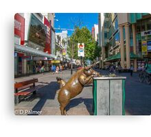 Rundle Mall - Looking down the Rundle Mall past the Pigs Canvas Print