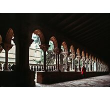 Marj in another part of cloister Moissac 19840301 0034 Photographic Print