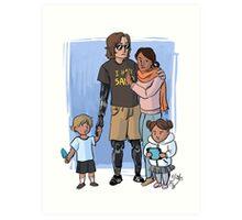 Skywalker Family Art Print