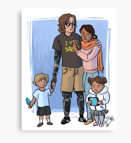 Skywalker Family Canvas Print