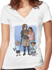 Skywalker Family Women's Fitted V-Neck T-Shirt