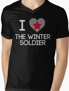 I Heart The Winter Soldier Mens V-Neck T-Shirt