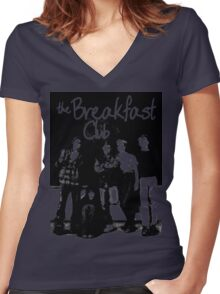 Breakfast club Women's Fitted V-Neck T-Shirt