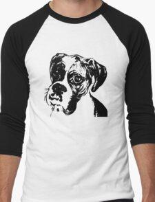 Boxer Eyes Graphic ~ black  Men's Baseball ¾ T-Shirt