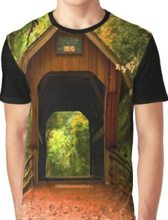 Covered Bridge,Little Hope Wisconsin  Graphic T-Shirt