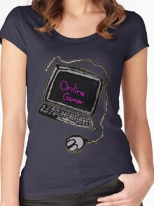 Online Gamer  Women's Fitted Scoop T-Shirt