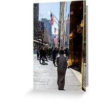 Homeless on 5th Avenue Greeting Card