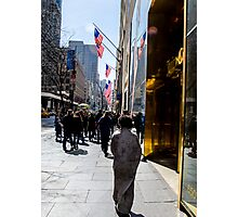 Homeless on 5th Avenue Photographic Print