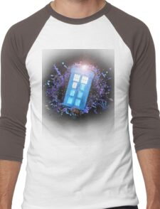 Wibbly-Wobbley Timey-Watercolor Men's Baseball ¾ T-Shirt