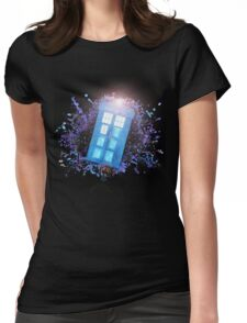 Wibbly-Wobbley Timey-Watercolor Womens Fitted T-Shirt