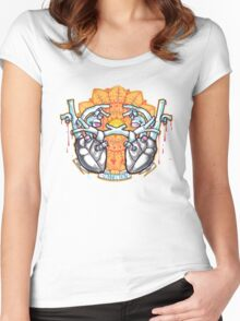 two hearts connection, psychedelic sci-fi Women's Fitted Scoop T-Shirt