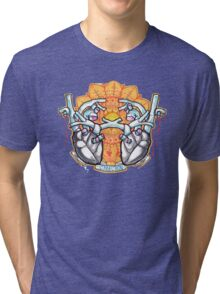 two hearts connection, psychedelic sci-fi Tri-blend T-Shirt