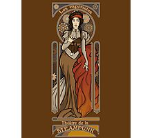 Steampunk Nouveau- Brown Photographic Print