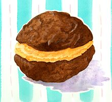 Butterscotch whoopie pie  by Jujudraws
