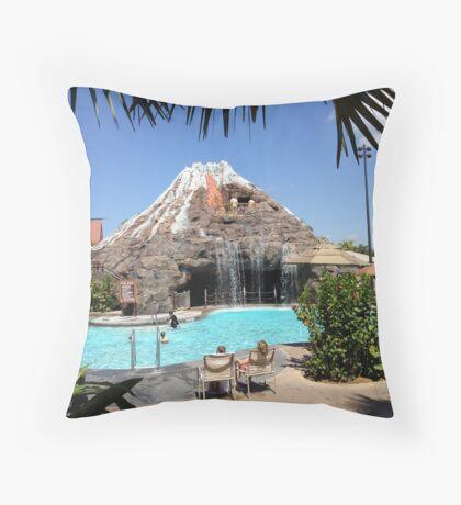 Polynesian Pool Throw Pillow