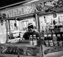 Street food vendor in NYC by Jean-Michel Dixte
