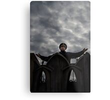 Security guard on top of the world Metal Print