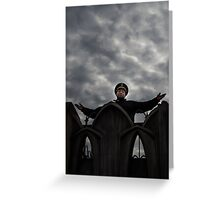 Security guard on top of the world Greeting Card