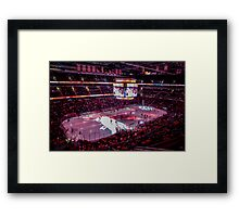 Capitals in Washington DC ice rink Framed Print