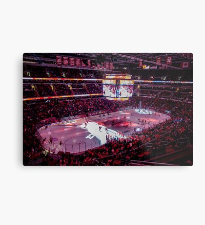 Capitals in Washington DC ice rink Metal Print