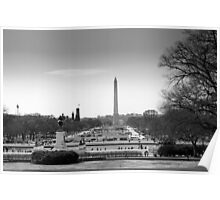 Washington DC from Capitol hill Poster