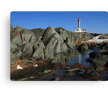 Sunny March Day at Cape Forchu Canvas Print