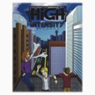 High Intensity Records Cityscape T-Shirt by Dragoonscale