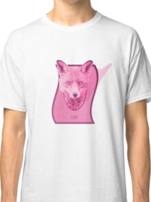 Hunting Series - The Pink Fox Head Classic T-Shirt