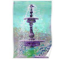 Aqua Fountain Poster