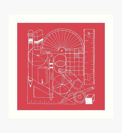 Math & Science Tools 1 Art Print