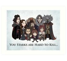 (Book 5 SPOILERS) Stark Family Portrait Art Print